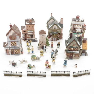 """Department 56 """"Dickens' Village Series"""" Light-Up Table Decor and Characters"""