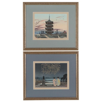 Koichi Okumura Woodblocks, Mid-20th Century