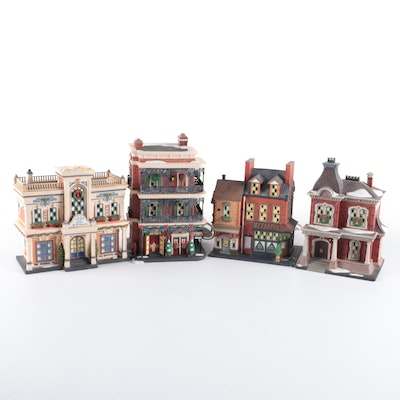 """Department 56 """"Christmas In The City"""" Porcelain Buildings, 2001-2006"""