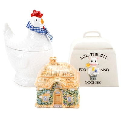 Gallery Originals Chicken with  Shafford and Teleflora Ceramic Cookie Jars