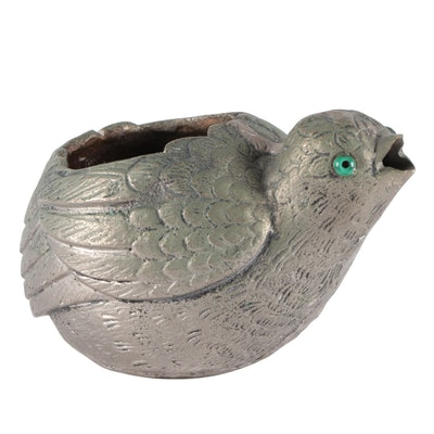 Gucci Silver Toned Brass Bird Form Bowl