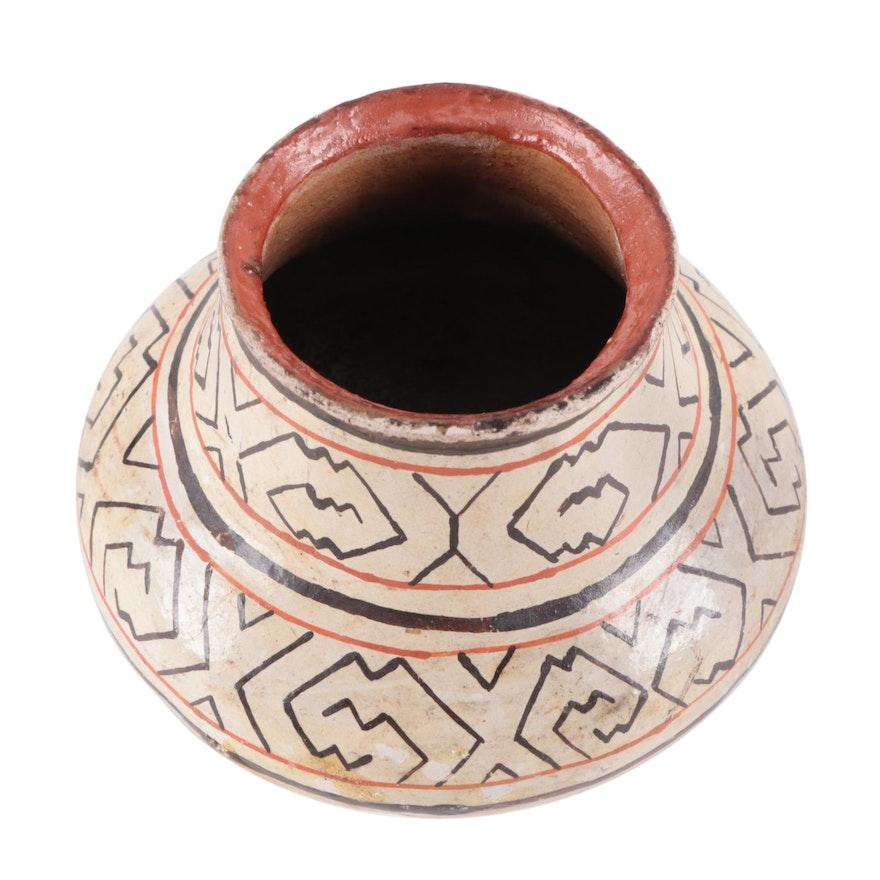 Peruvian Shipibo Handcrafted Clay Vessel