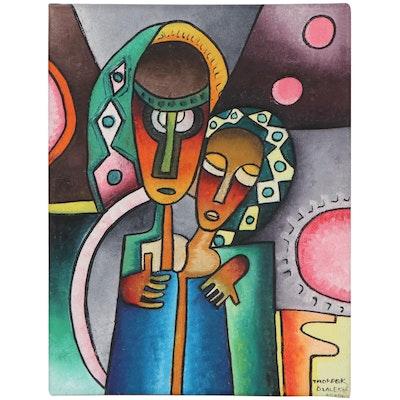 "Taofeek Olalekan Oil Painting ""Sweetheart,"" 2020"