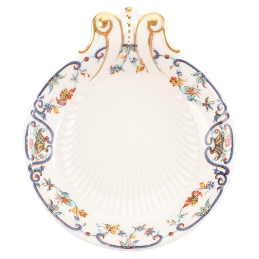"Haviland ""Marguerite"" Shell-Shaped Porcelain Bowl, Mid-20th Century"