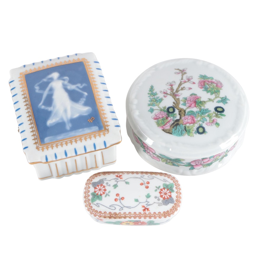 R.H. Stearns & Co. Porcelain Box and Other Porcelain Boxes
