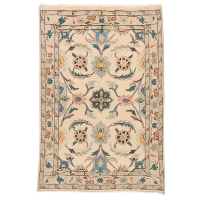 3'4 x 5' Hand-Knotted Persian Mahal Rug, 2000s