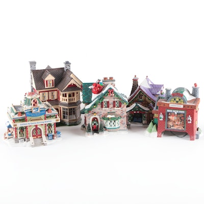 """Department 56 """"Snow Village"""" and """"North Pole"""" Porcelain Figurines"""
