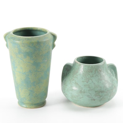 Art Deco Style Art Pottery Vases, Early to Mid-20th Century