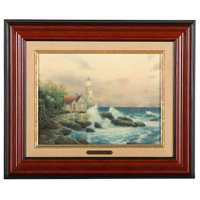 """Offset Lithograph After Thomas Kinkade """"Beacon of Hope"""""""