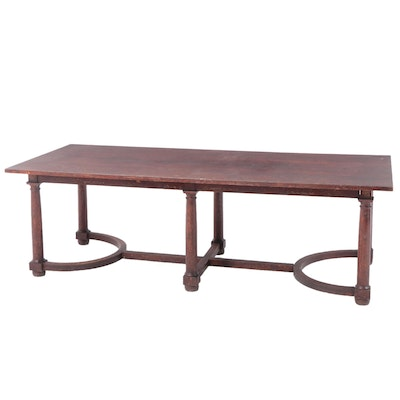 Jacobean-Revival Oak Dining Table, Early 20th Century