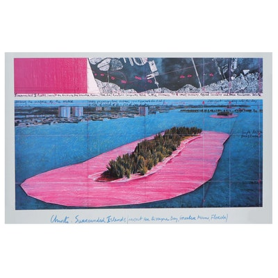 """Offset Lithograph After Christo and Jeanne-Claude """"Surrounded Islands"""""""