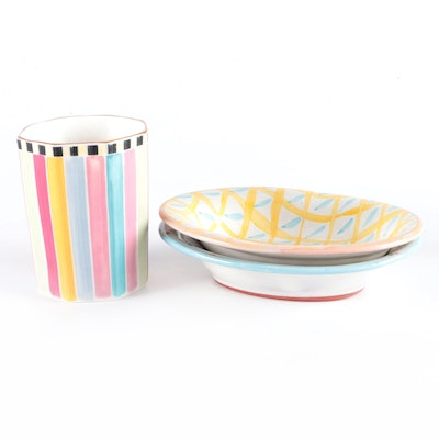 """Mackenzie-Childs """"Wallcourt"""" Terracotta Soap Dishes and More"""