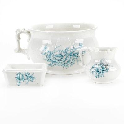 Iron Stone China Bowl, Creamer and Soap Dish