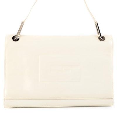 Gucci Off-White Leather Front Flap Shoulder Bag