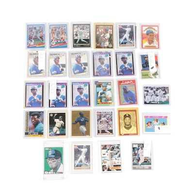 1980s-1990s Ken Griffey Jr. Baseball Cards with Fleer and Donruss Rookie Cards