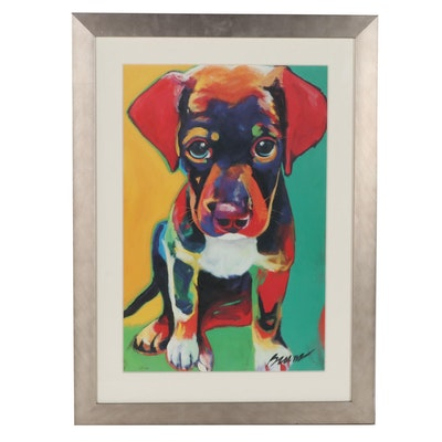 """Offset Lithograph After Ron Burns """"Toby,"""" Late 20th Century"""