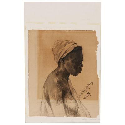 Gustave Henry Mosler Charcoal Portrait, 1897