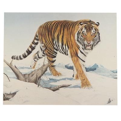 "Glen Loates Offset Lithograph ""Siberian Tiger"""
