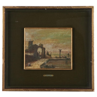Landscape Oil Painting, Late 19th Century