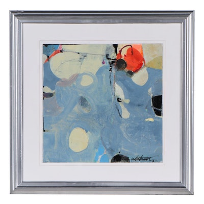 Mark Whitmarsh Abstract Acrylic Painting, 21st Century