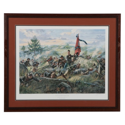 """Don Troiani Offset Lithograph """"Little Round Top,"""" 1997"""