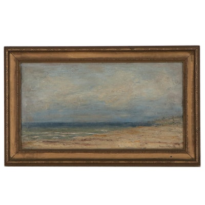 Portia Ragland McIver Landscape Oil Painting, Early 20th Century