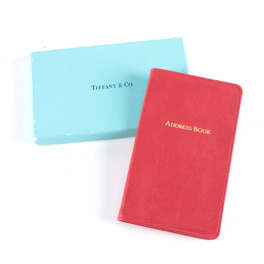 Tiffany & Co. Red Full-Grain Leather Address Book