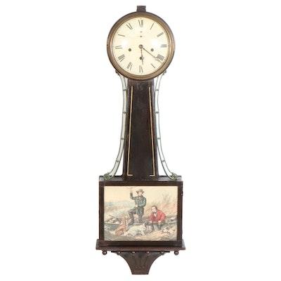 New Haven Clock Company Banjo Clock, Early to Mid 20th Century