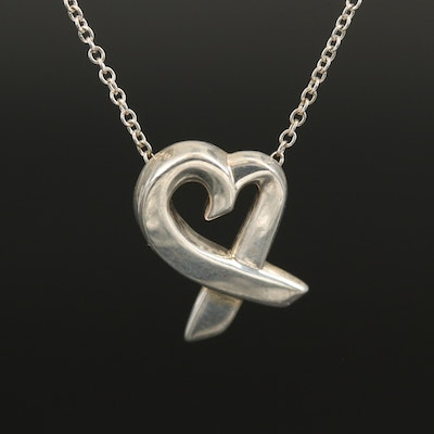 """Paloma Picasso for Tiffany & Co. """"Open Heart"""" Sterling Necklace"""