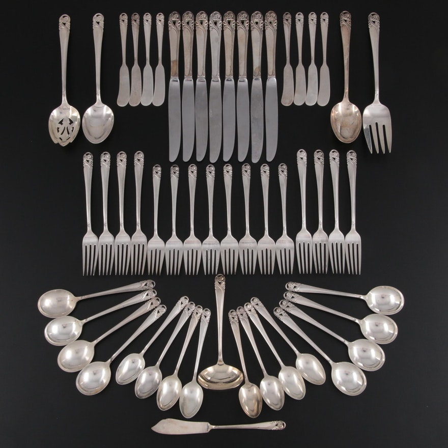 """International """"Spring Glory"""" Sterling Silver Flatware Set, Mid/Late 20th Century"""