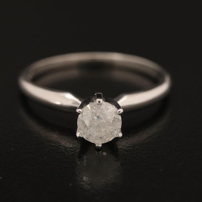 14K 0.53 CT Diamond Solitaire Ring