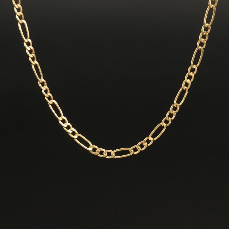 Italian 14K Figaro Chain