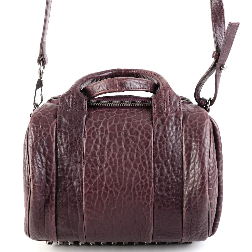 Alexander Wang Rocco Satchel Handbag in Grained Leather with Detachable Strap