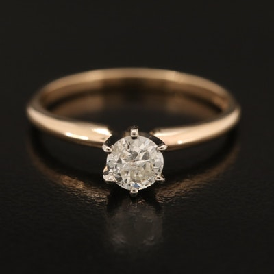 14K 0.41 CTW Diamond Solitare Ring
