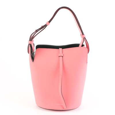 Burberry Bucket Bag in Pink Leather with Detachable Pouch