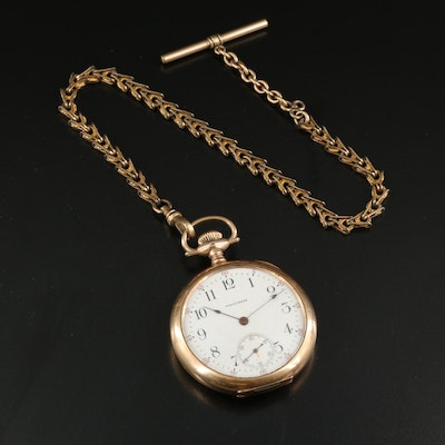 1907 Waltham Gold Filled Pocket Watch and Chain Fob