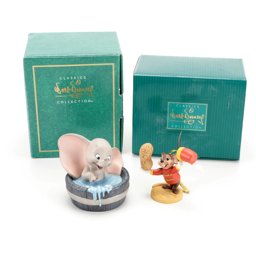 "Walt Disney Classic Collection ""Dumbo"" Ceramic Figurines"