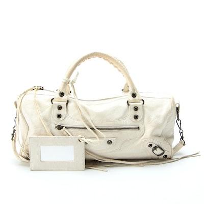 Balenciaga Handbag in Agneau Classic Twiggy White