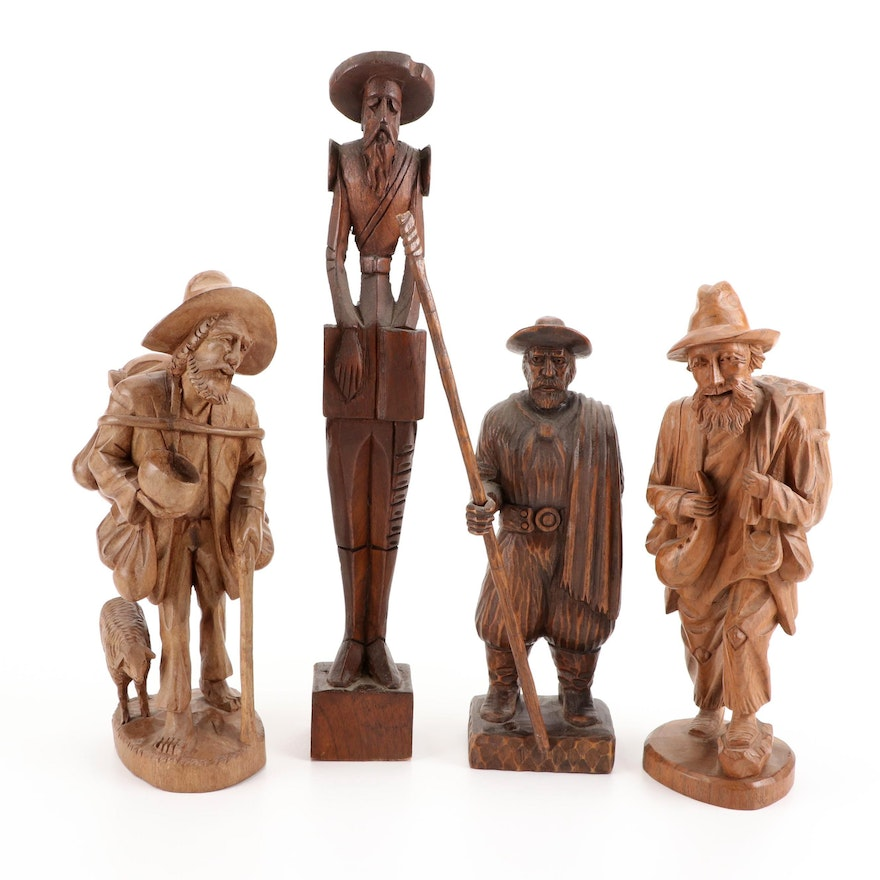 Hand-Carved Wood Figures
