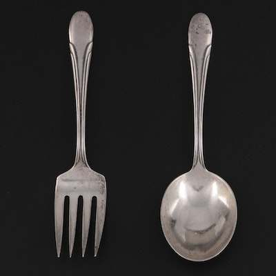 """Towle """"Symphony"""" Sterling Silver Children's Fork and Spoon"""