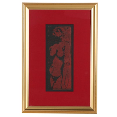 Jewell Haley Female Nude Relief Print
