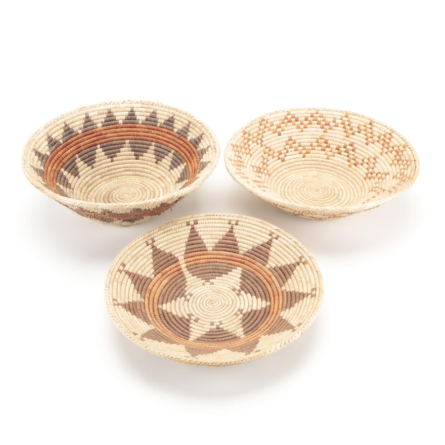 West African Style Handcrafted Coil Baskets