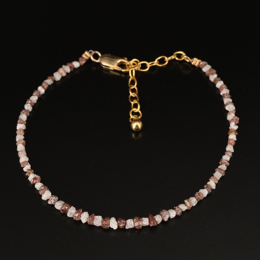 Rough Cut Diamond Beaded Bracelet