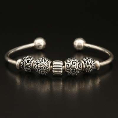 Pandora Sterling Cuff with Openwork Beads