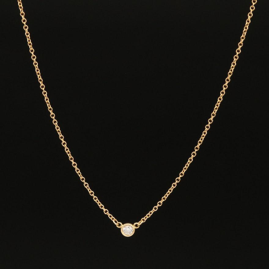 "Elsa Peretti for Tiffany & Co. ""Diamonds by the Yard"" 18K Diamond Necklace"