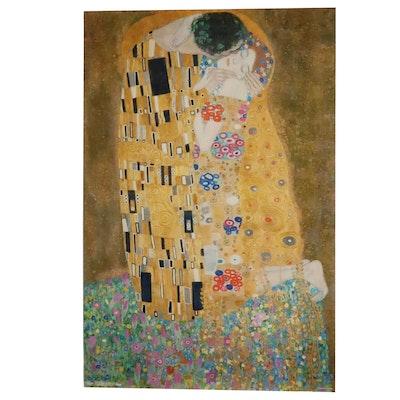 "Offset Lithograph After Gustav Klimt ""The Kiss,"" 21st Century"