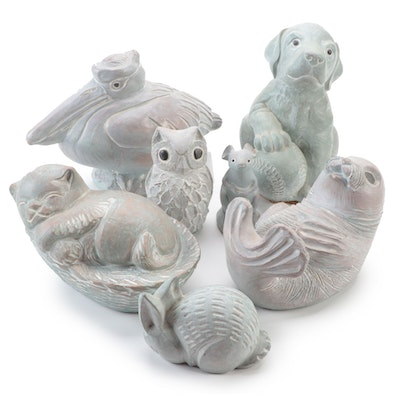 Isabel Bloom Handcrafted Concrete Figurines, Late 20th Century
