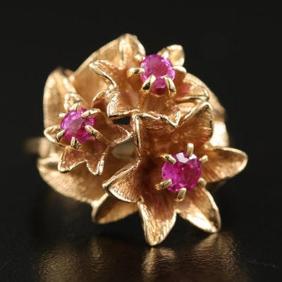 Vintage 14K Ruby Giardinetti Ring