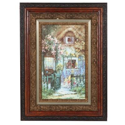"Offset Lithograph After Alfred de Breanski Jr. ""A Wayside House"""