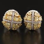 Platinum 2.26 CTW Diamond Earrings with GIA Report
